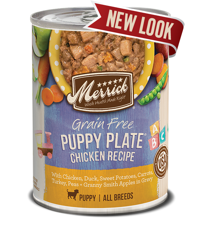 Merrick Grain Free Puppy Plate Chicken Recipe In Grvay Dog Canned Food 360g