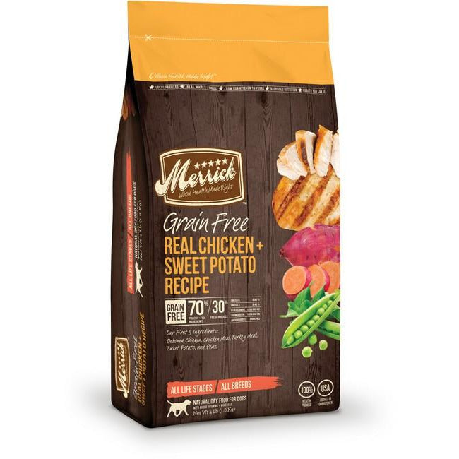 Merrick Grain Free Real Chicken & Sweet Potato Dog Dry Food 4Lbs