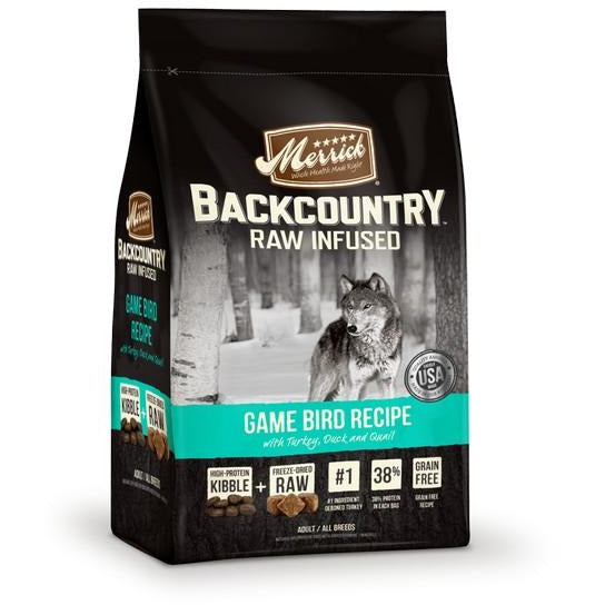 Merrick Backcountry Raw Infused Game Bird Dog Dry Food 22Lbs