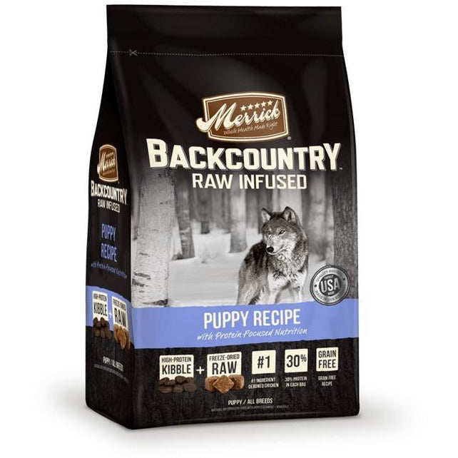Merrick Backcountry Raw Infused Puppy Dog Dry Food 4Lbs