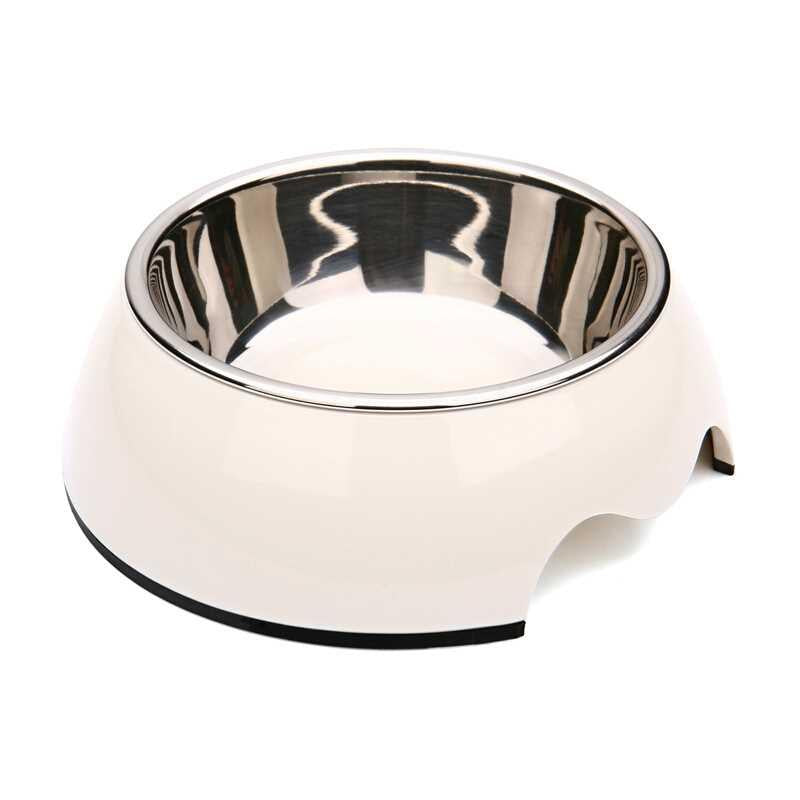 Pet Bowl Plain Medium White