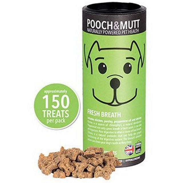 Pooch & Mutt Fresh Breath Mini Bone Treats 125g