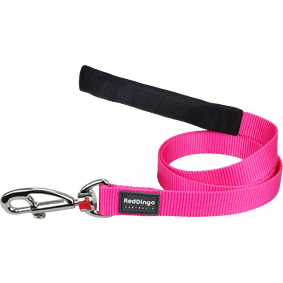 Red Dingo Fixed Classic Dog Leads (15mm) Hot Pink
