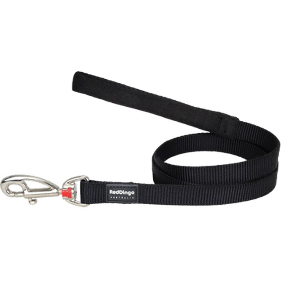 Red Dingo Fixed Classic Dog Leads (20mm) Black