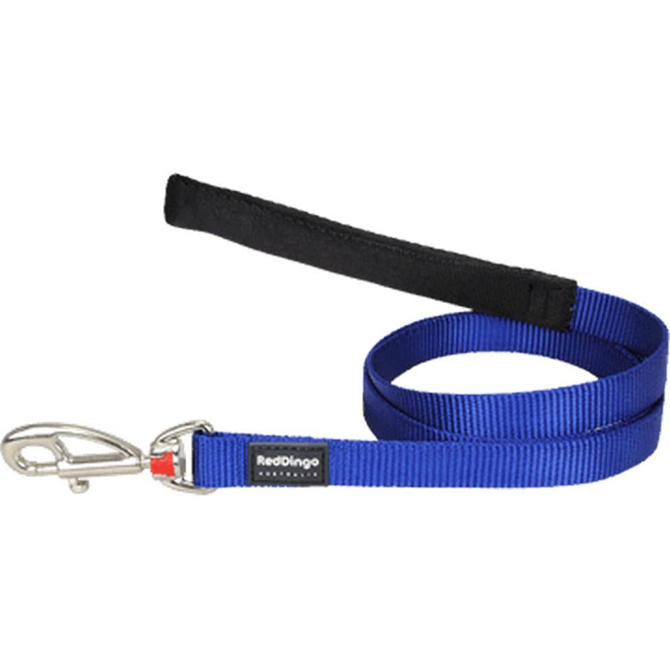 Red Dingo Fixed Classic Dog Leads (20mm) Dark Blue