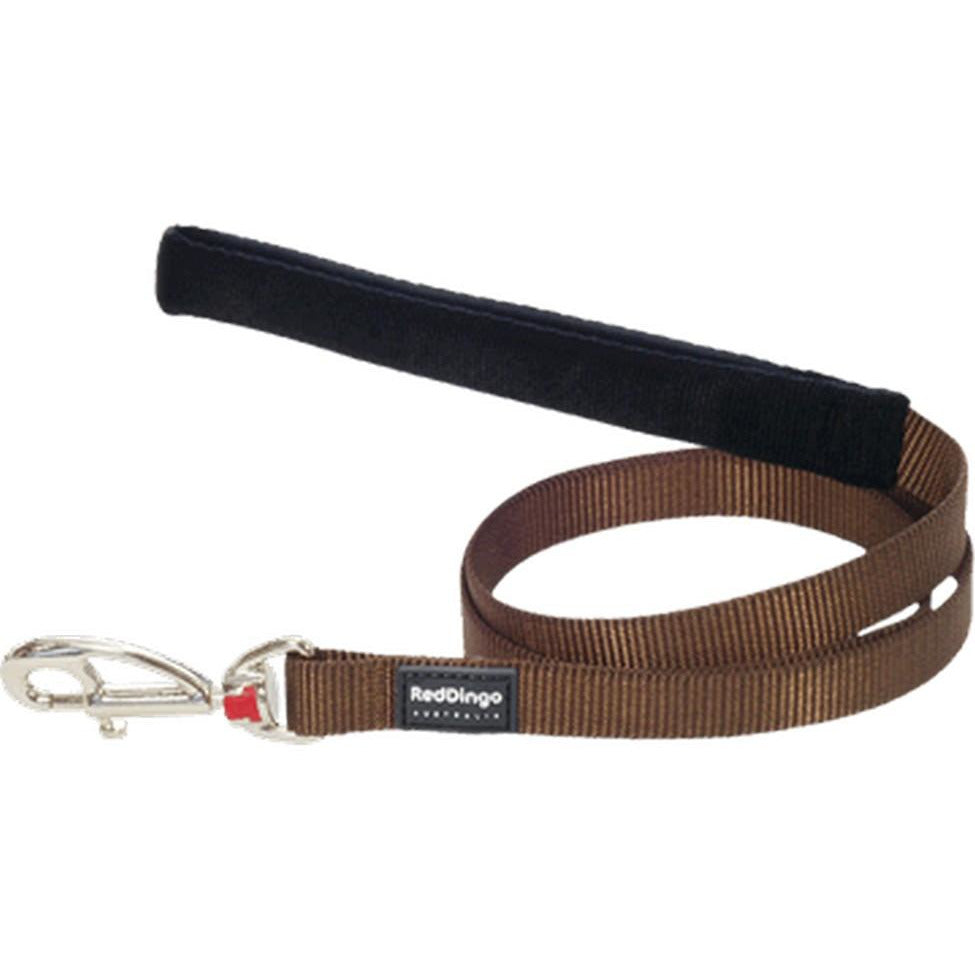 Red Dingo Fixed Classic Dog Leads (20mm) Brown