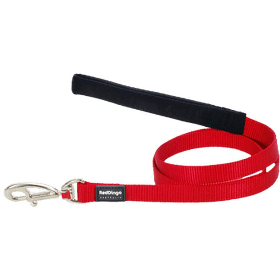 Red Dingo Fixed Classic Dog Leads (20mm) Red