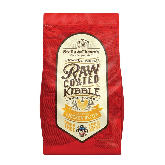 Stella & Chewy's Raw Coated Kibble Chicken Dog Dry Food 3.5Lb