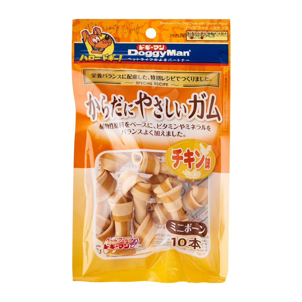 DoggyMan Rawhide-Free Dog Chew with Chicken Flavor For Dogs 10pcs