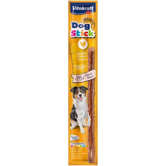 Vitakraft Dog Stick Roasted Chicken Dog Treat 1's