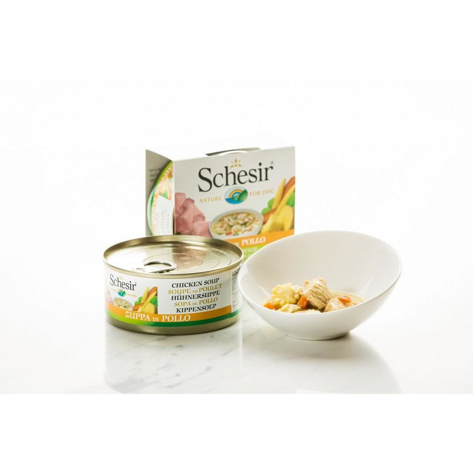 Schesir Soup Chicken Dog Food 156g