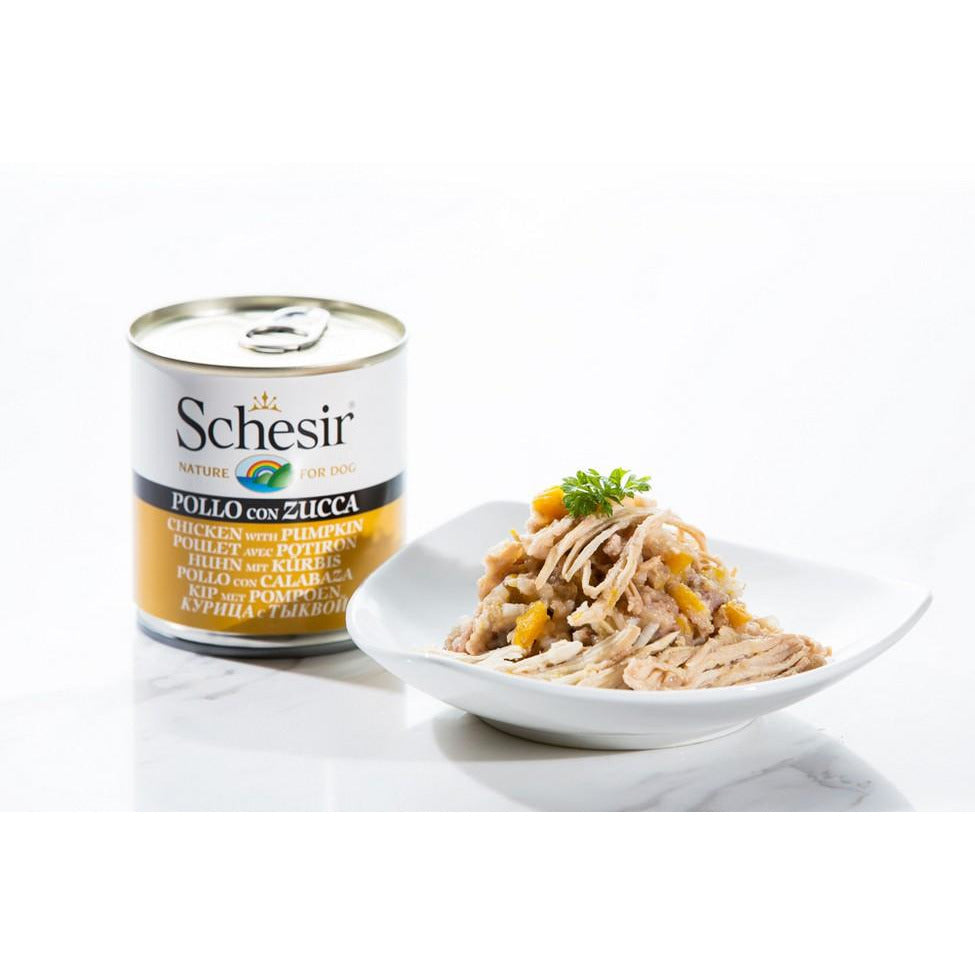 Schesir Chicken With Pumpkin Dog Wet Food 285g