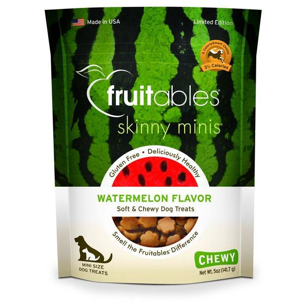 Fruitables Skinny Minis Watermelon Dog Treat 5oz