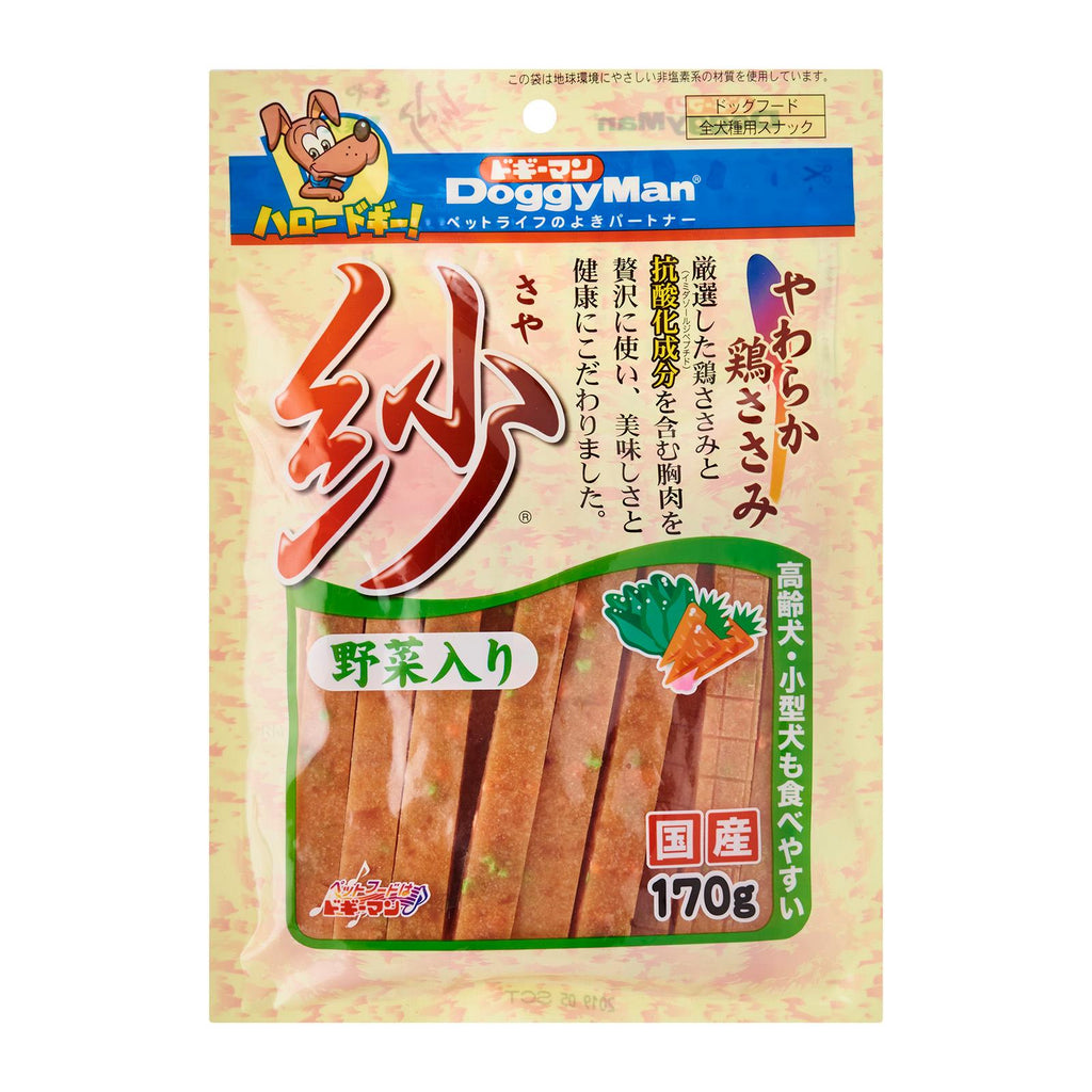 Doggyman Soft Sasami Stick With Vegetable For Dogs 170g