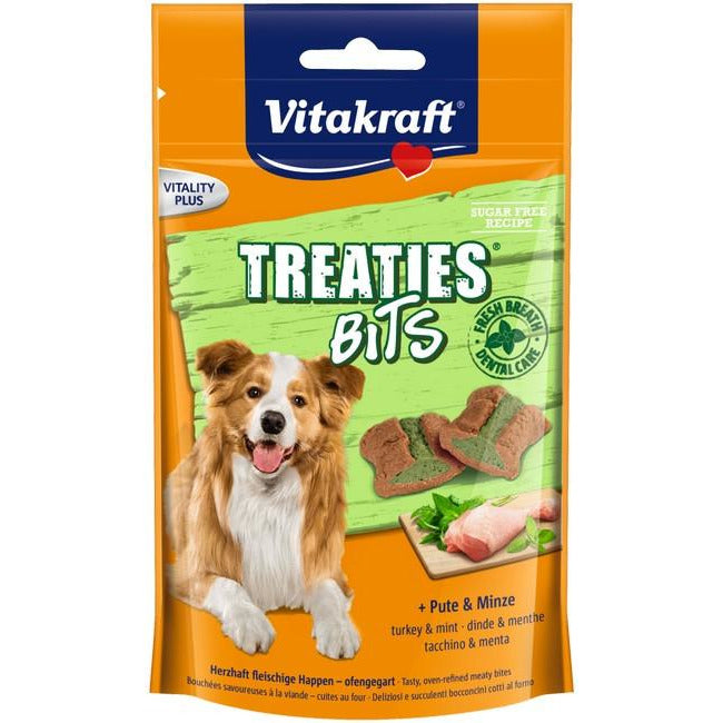 Vitakraft Treaties Bits Turkey & Mint Dog Treat 120g