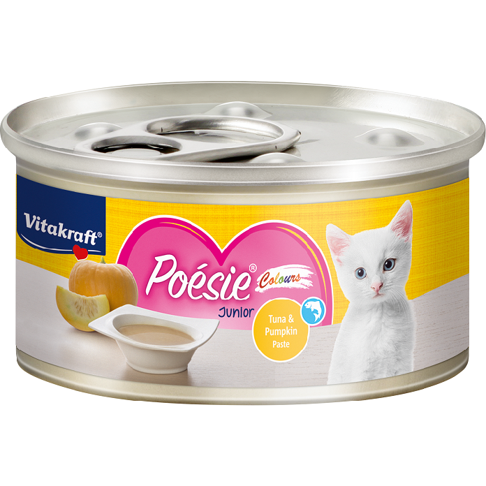 Vitakraft Poesie Colours Tuna & Pumkin Paste (Junior) 70g (24cans)