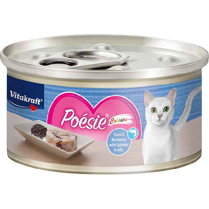 Vitakraft Poesie Colours Tuna & Riceberry with Salmon in Jelly 70g
