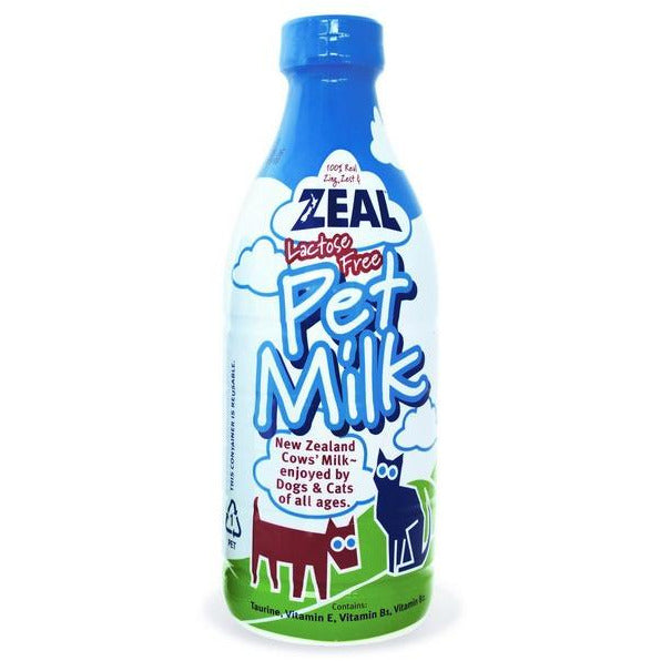 Zeal Lactose Free Pet Milk For Dogs & Cats 1L