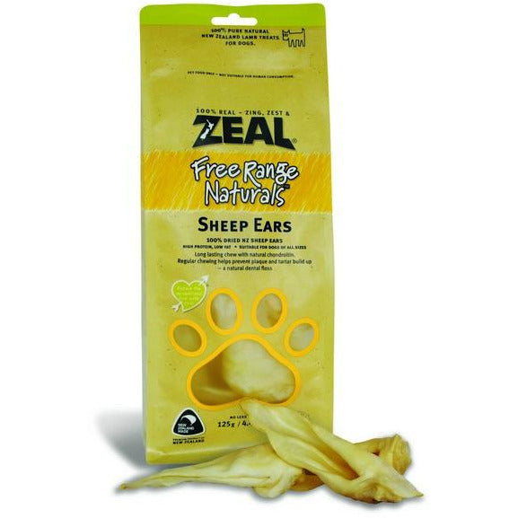 Zeal Free Range Naturals Sheep Ears Dogs Treats 125g (3 Packs)