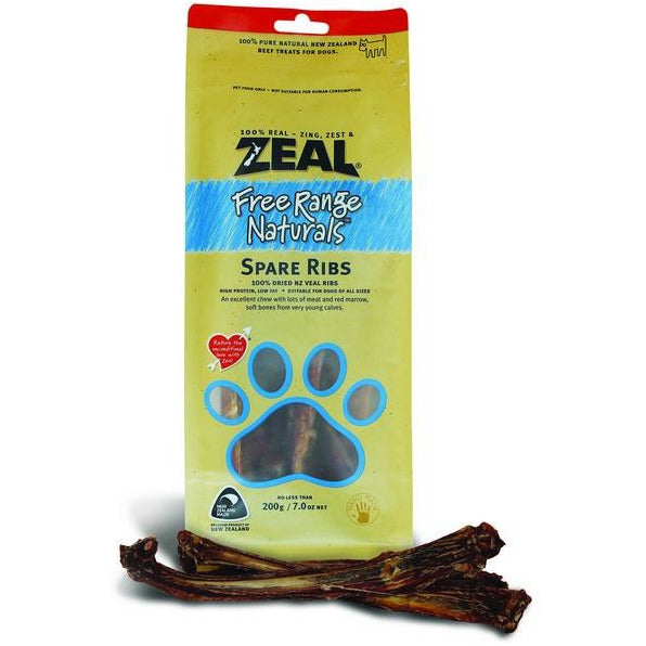 Zeal Free Range Naturals Spare Ribs Dogs Treats 200g