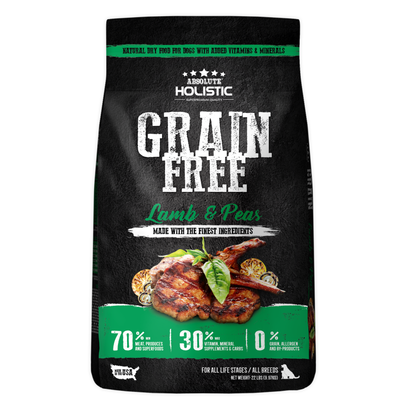 Absolute Holistic Grain Free Lamb & Peas Dog Dry Food 9.97kg