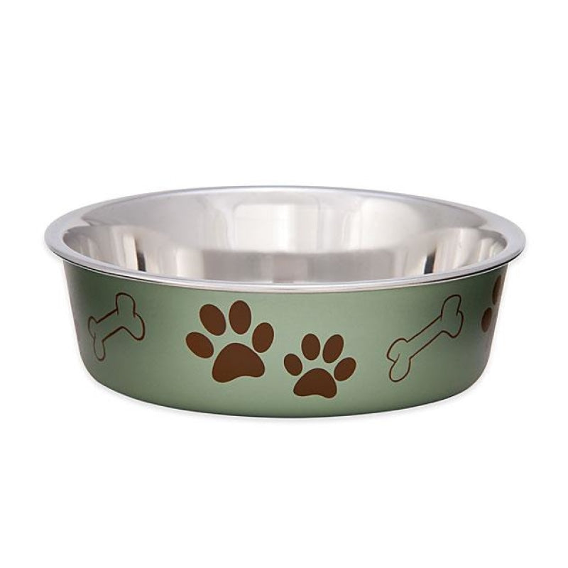 Loving Pets Bella Bowls Metallic Grape For Dogs & Cats