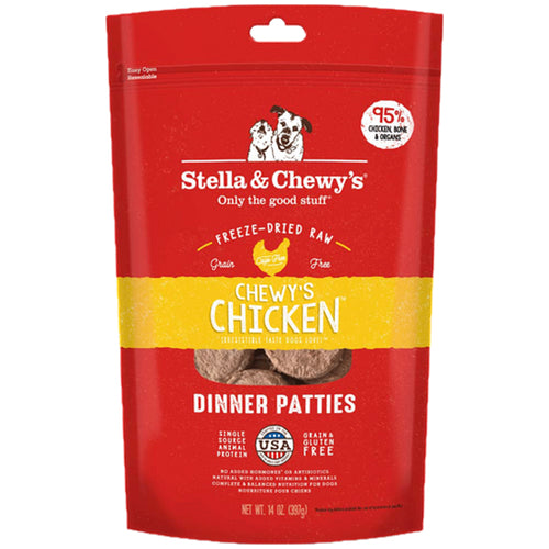 Stella & Chewy's Chewy's Chicken Dinner Patties Freeze-Dried Dog Food 14oz