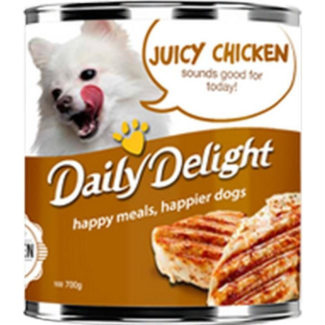 Daily Delight Energy Lift Juicy Chicken Dog Wet Food 700g