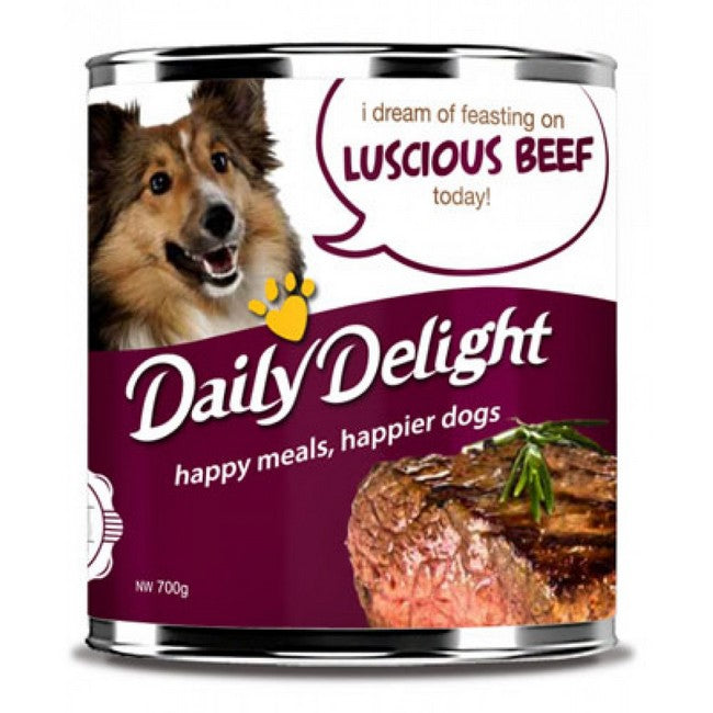 Daily Delight Energy Lift Luscious Beef Dog Wet Food 700g