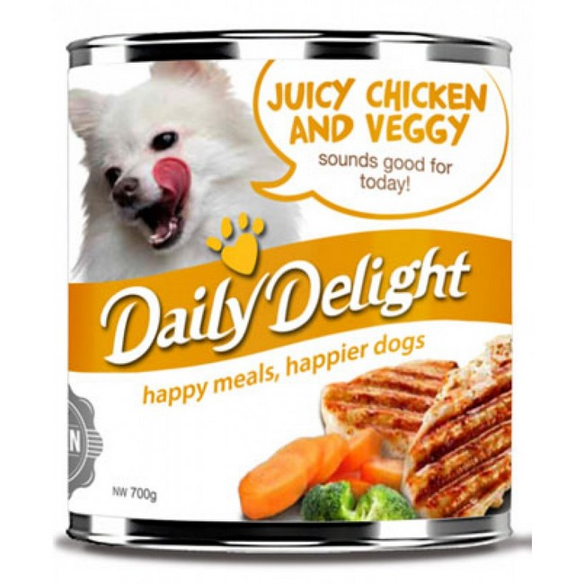Daily Delight Healthy Choice Juicy Chicken & Veggy 700g (12cans)