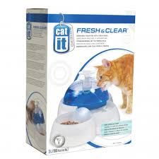 Catit Design Fresh & Clear Cat Drinking Fountain with Food Bowl 3L