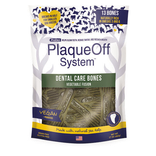 ProDen PlaqueOff Dental Bones Dog Treat 482g - Veggie