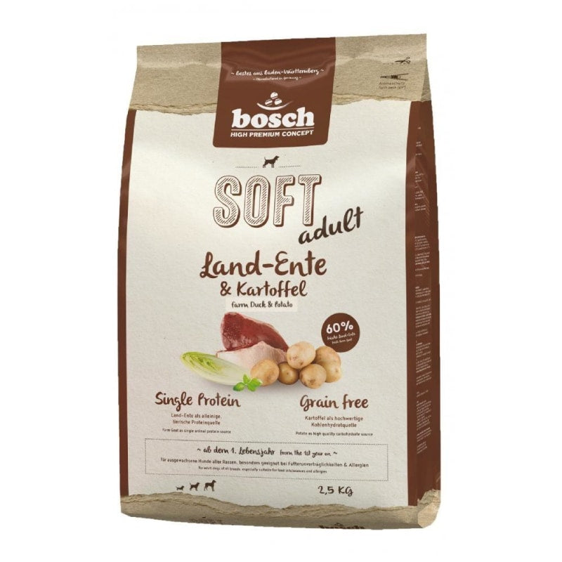 Bosch High Premium Concept Soft Adult with Farm Duck & Potato Dog Dry Food 2.5kg