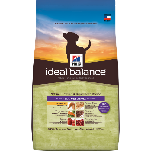 Hill's Ideal Balance Natural Mature Dog Chicken & Brown Rice Dog Dry Food 4lbs