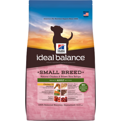 Hill's Ideal Balance Natural Adult Dog Small Breed Chicken & Brown Rice Dog Dry Food 4lbs