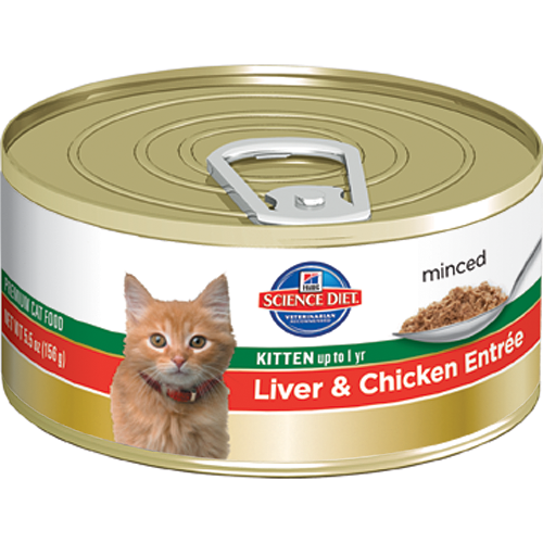 Science Diet Kitten up to 1 yr Liver & Chicken Entree Cat Canned Food 156g**Pork