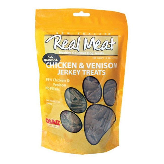 Real Meat Jerky Chicken & Venison Dog Treat 4oz