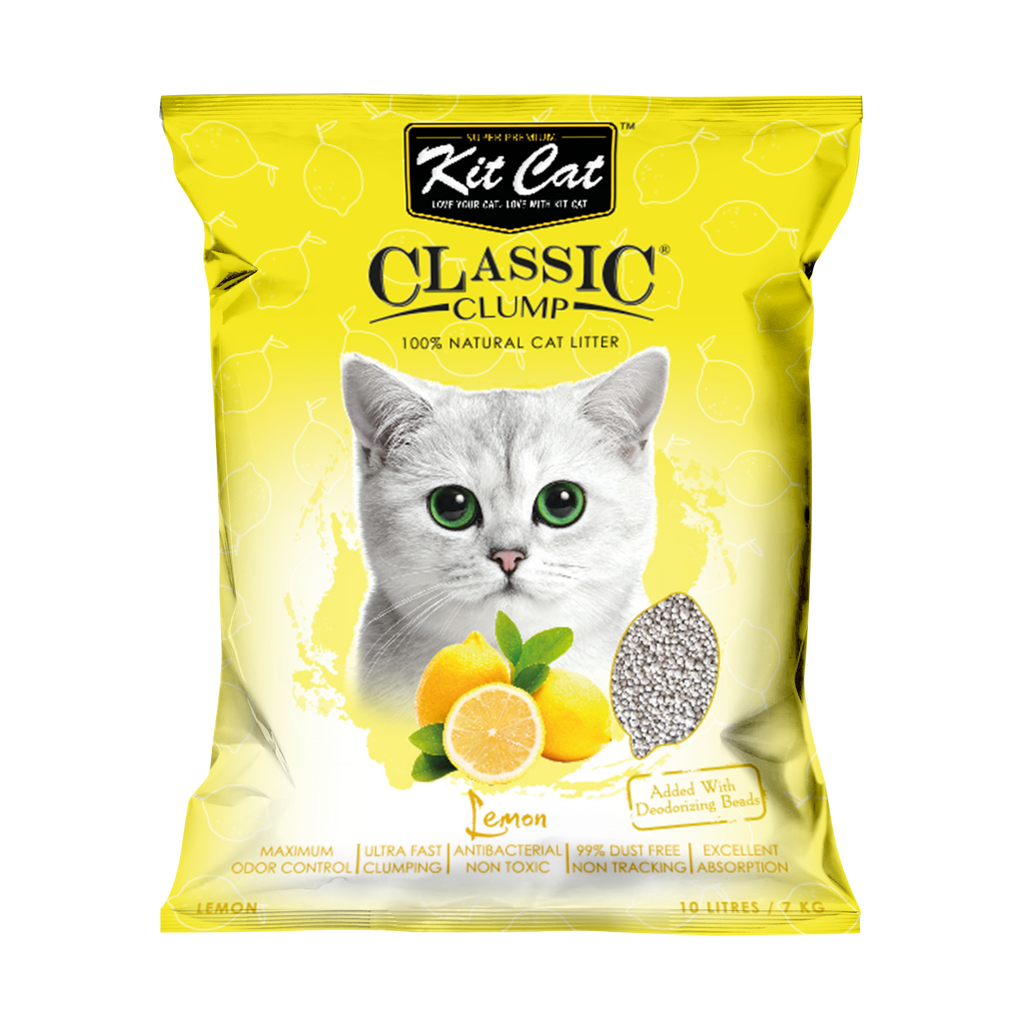 Kit Cat Classic Clump Lemon 10L