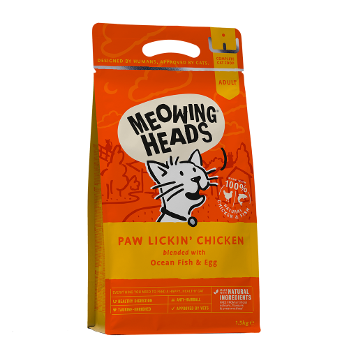 Meowing Heads Paw Lickin' Chicken Dry Cat Food 1.5kg
