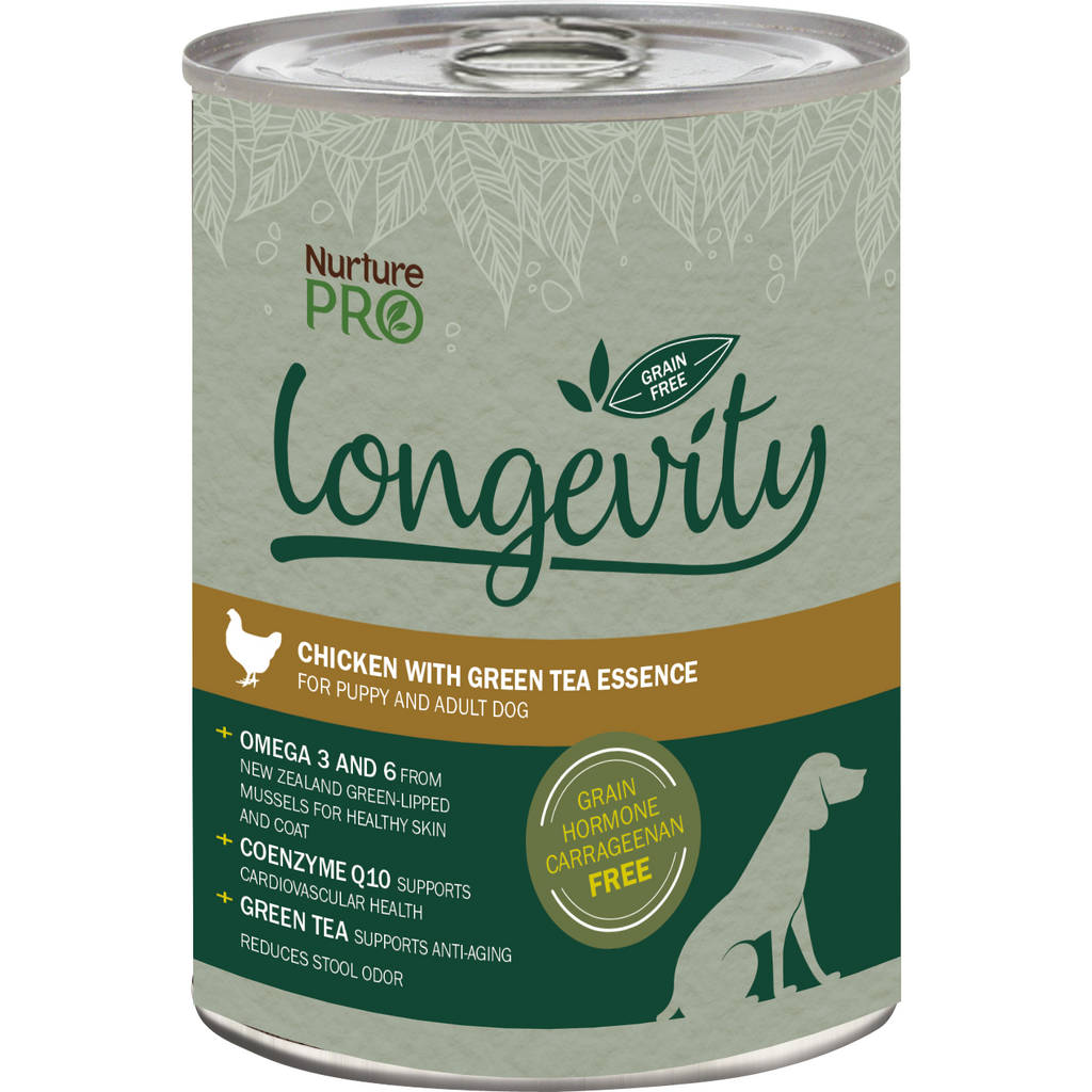 Nurture Pro Longevity  Chicken with Green Tea Essence Canned Dog Food 375g