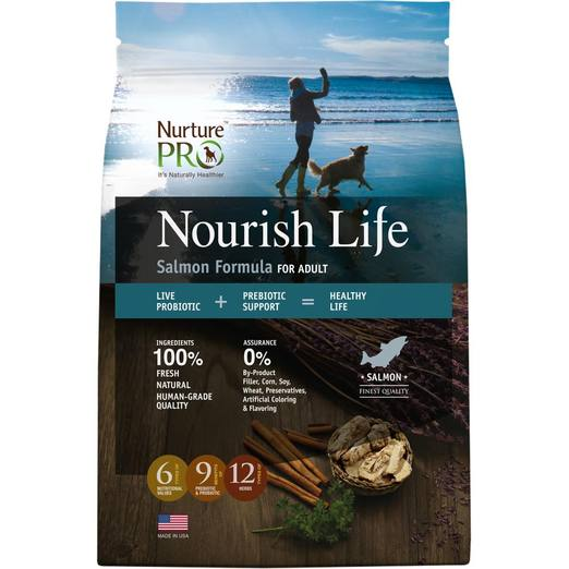 Nurture Pro Nourish Life Salmon Formula For Adult Dog Dry Food 26lb