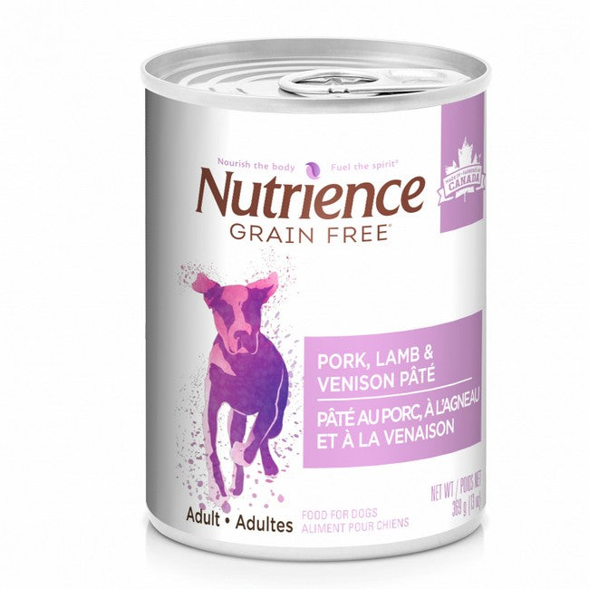 Nutrience Grain Free Pate Pork, Lamb & Venison Dog Canned Food 369g