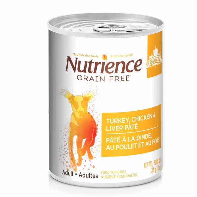 Nutrience Grain Free Pate Turkey, Chicken & Liver Dog Canned Food 369g