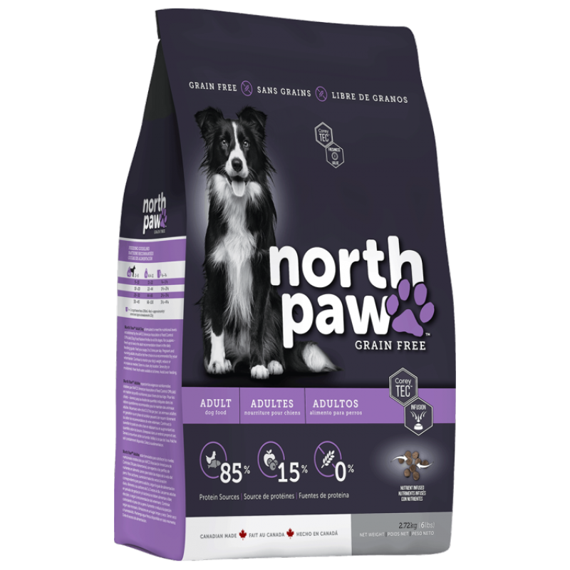 North Paw Grain Free Adult Dog Dry Food 2.72kg (2 Packs)