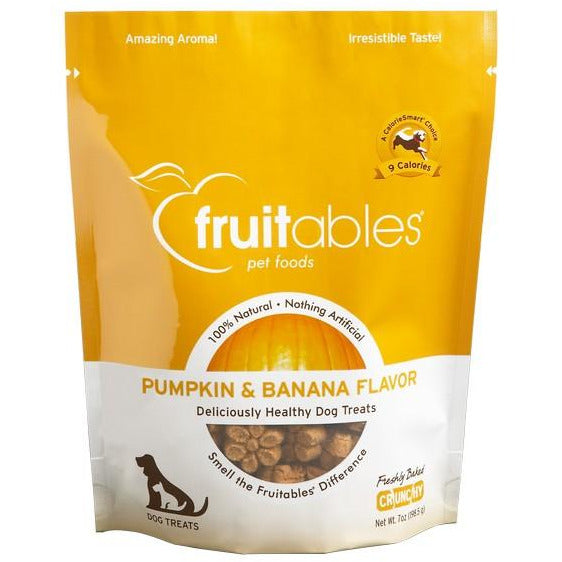 Fruitables Crunchy Pumpkin & Banana Dog Treat 7oz