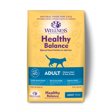 Wellness Cat Healthy Balance Original Chicken Meal & Peas Recipe 12Lb