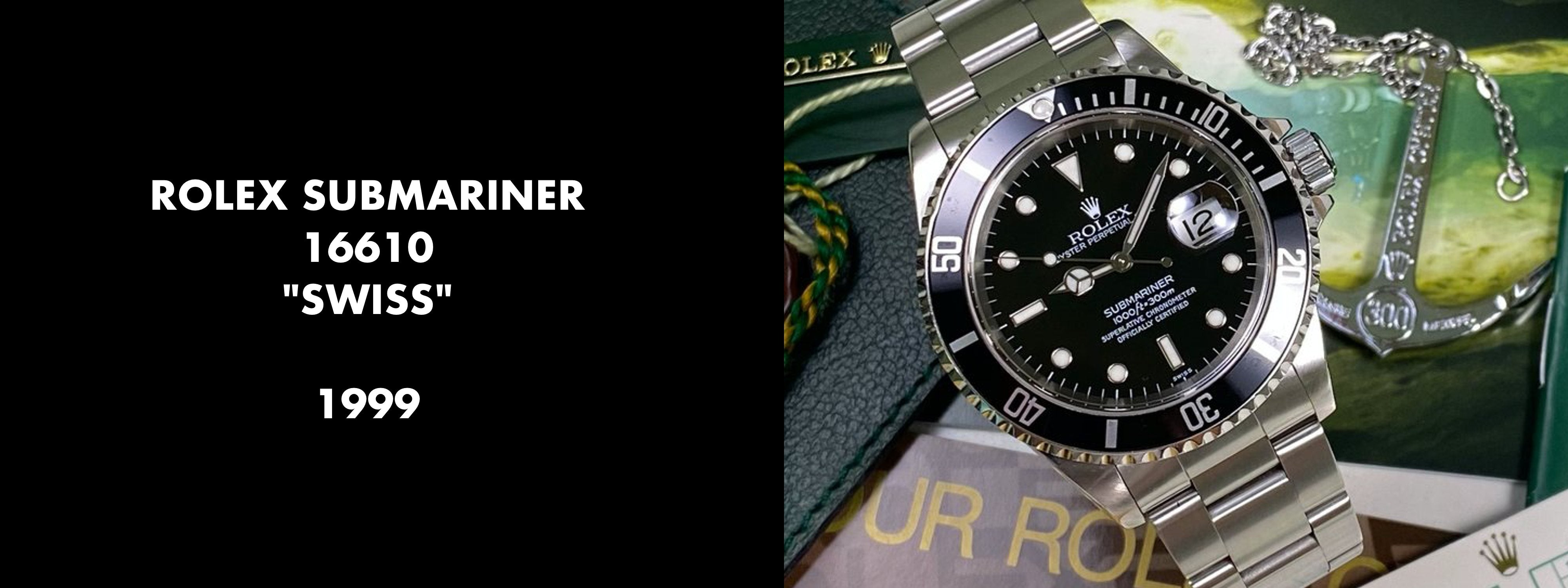 Rolex Submariner 16610 - SWISS only Dial