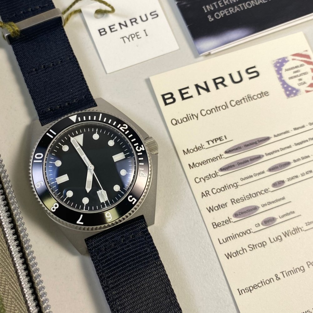 Benrus Type 1 Limited Edition (Hodinkee Re-Issue)