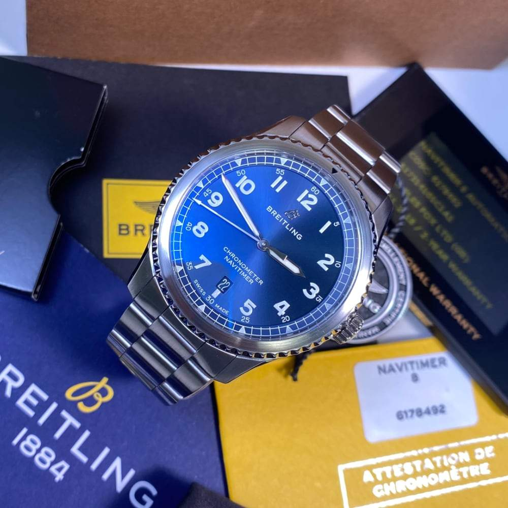 Breitling Navitimer 8 Automatic 41 A17314 Blue Dial - Swiss Watch Trader