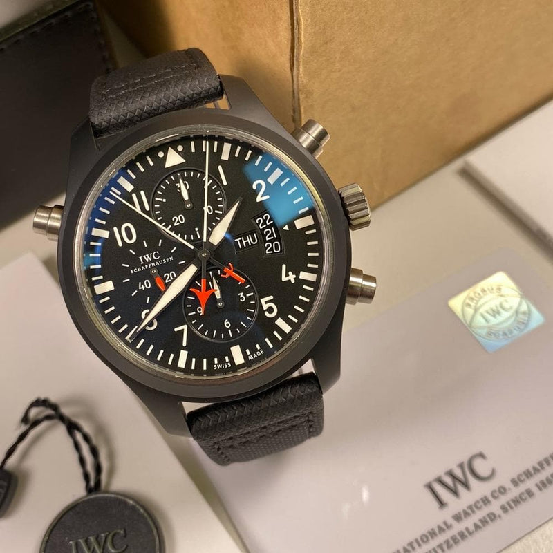 IWC Double Chronograph Top Gun IW379901 - Swiss Watch Trader